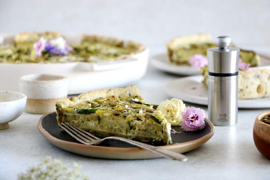 Zucchini Quiche with Pesto and Seeds_4 - Peugeot Saveurs